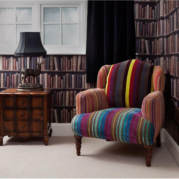 Sill n antiguo tapizado con telas modernas tendencia deco - Telas para sillones ...