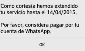 Por cortesía, WhatsApp extiende por un año más su servicio gratis