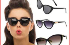 Las gafas de sol grandes y de colores son tendencia