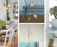 ¿Se viene la tendencia Half Painted? Muebles a medio pintar