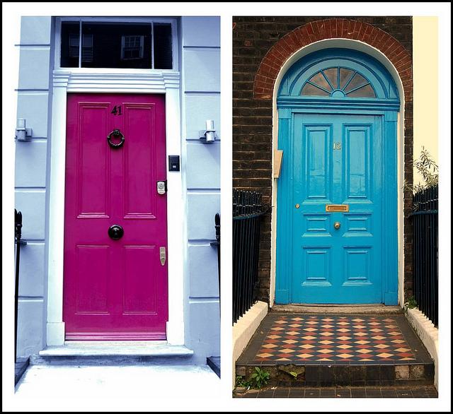 Tendencia puertas decoradas y de color moda de hoy - Colores para puertas ...