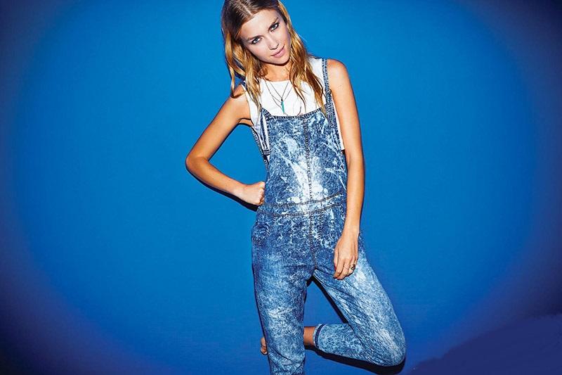 Enteritos de jeans verano moda 2015