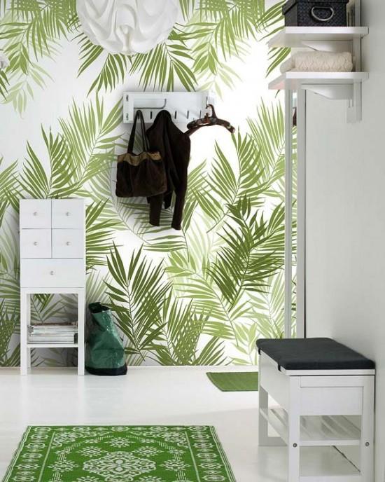 Tendencia en el hogar papeles estampados en las paredes for Colocar papel mural