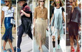 Los flecos en las prendas son tendencia