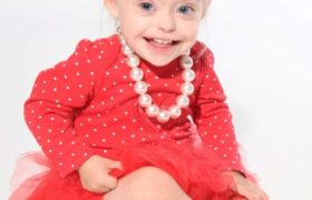 Connie Rose Seabourne, la pequeña modelo de dos años con síndrome de Down