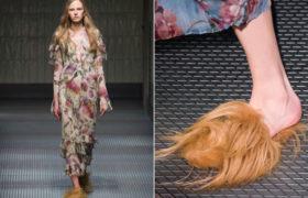 La nueva tendencia del invierno europeo: Los zapatos peludos