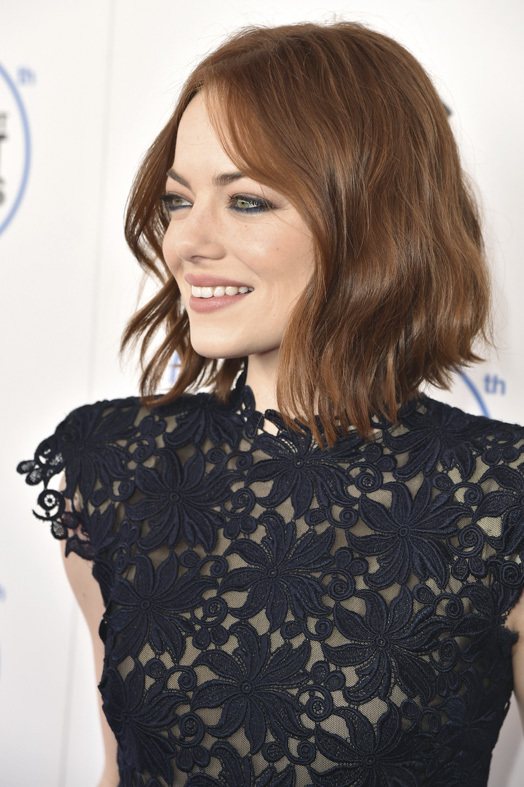 SANTA MONICA, CA - FEBRUARY 21: Actress Emma Stone attends the 2015 Film Independent Spirit Awards at Santa Monica Beach on February 21, 2015 in Santa Monica, California. (Photo by Kevin Winter/Getty Images)