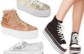 Zapatillas con plataforma, la nueva tendencia en moda