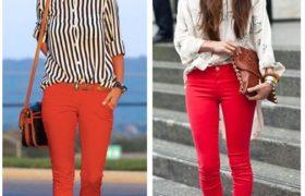 La tendencia del pantalón rojo, ¿Cómo combinarlo?