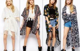 Los kimonos son la última tendencia en moda