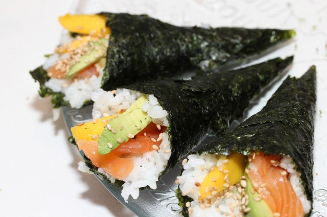 Fiona's Japanese Cooking_Temaki_Sushi Hand Roll