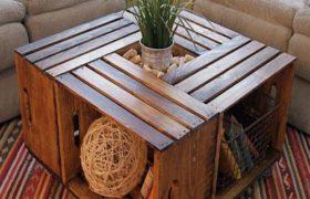 Tendencia: muebles hechos con cajones de madera