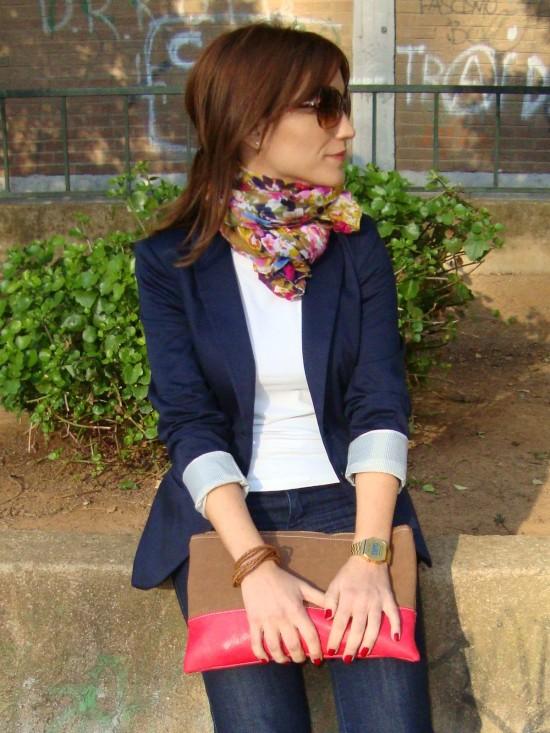 Como usar un blazer azul marino mujer