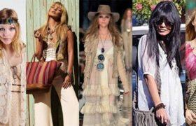 El estilo hippie chic es tendencia