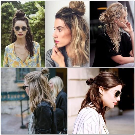 Half-Up-Bun-hairstyle