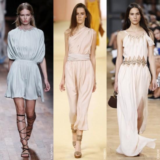 Vestidos largos corte helenico