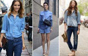 Jean combinado con jean: una tendencia que continúa
