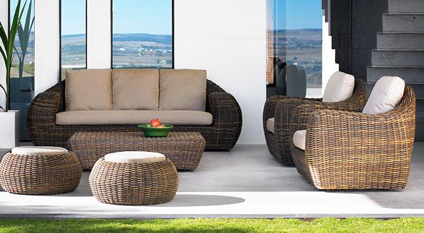 tendencia en muebles rattan para exterior o interior