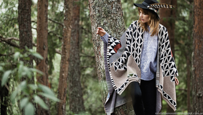 ponchos de moda invierno 2015 moda