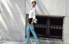 La ultima tendencia en moda- Botas metalizadas