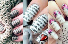 Pintar uñas con periódicos ¿Cómo se hace el Newspaper Nail Art?