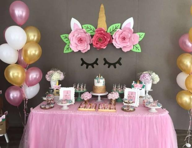 Decoracion Con Unicornios Para Cumpleanos Baby Shower Comuniones