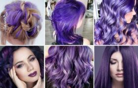 Cabellos Ultra violeta: Tendencia peinados 2018-2019 púrpura
