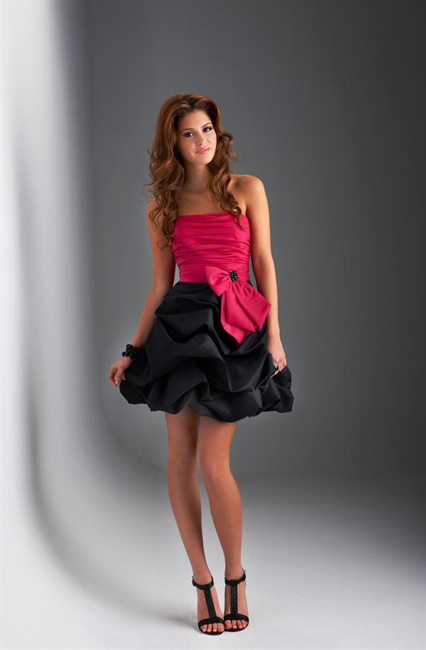 Vestidos de quinceanera fucsia con negro